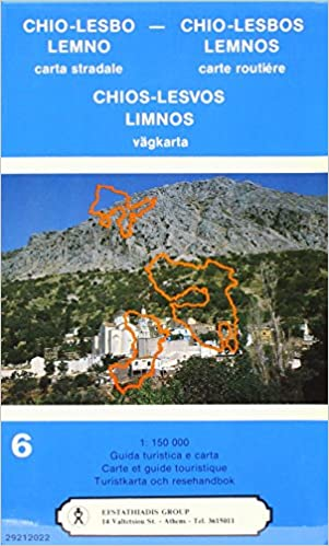 Chios Lesbos Limnos Road Map 9789602260142 Amazoncom Books