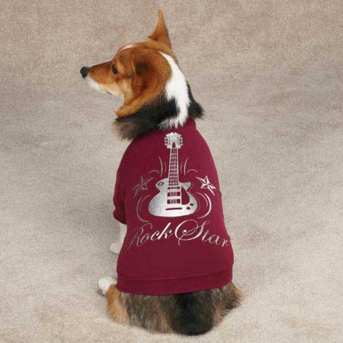 Casual Canine Rock Star Tee for Pets, X-Large Deep Raspberry by Casual Canine (Image #1)