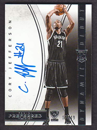 2014-15 Panini Preferred Basketball #363 Cory Jefferson RC Dynamic Debut Auto 13/49 Nets