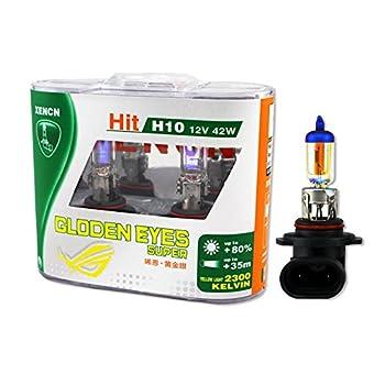 Xencn H10 9145 12v 42w 2300k Super Yellow Light Auto Fog Lamp Bulbs, (Pack of 2)
