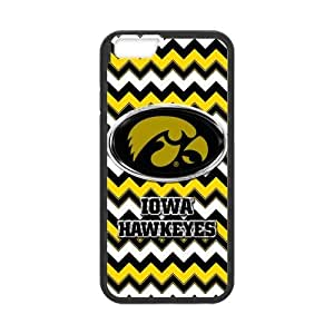 Generic Customize Unique Otterbox--NCAA Iowa Hawkeyes Team Logo Chevron Plastic and pc (Laser Technology) Case Cover for iPhone6