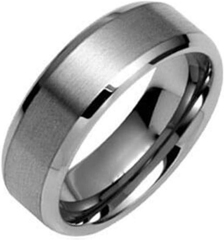 awdawd Anillo De Tungsteno Plateado para Hombre De 8 Mm Joyería De Moda Personalizada Cualquier Ocasión,Silver-14#