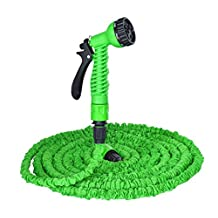 Fhede New Garden Hose 25ft/50ft/75ft/100ft/125ft /150ft Flexible Expandable Expanding Garden Hose Expandable Water Pipe Lightweight Collapsible Hose for Watering and Car Washing (Green, 25FT)