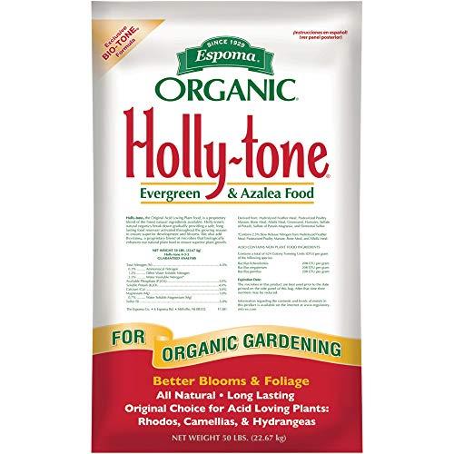 - Espoma HT50 Organic 4-3-4 Holly Tone Fertilizer, 50 lb