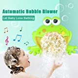Bubble Machine Tub Big Frog Automatic Bubble Maker Blower 12 Music Song Bath Toy for Baby