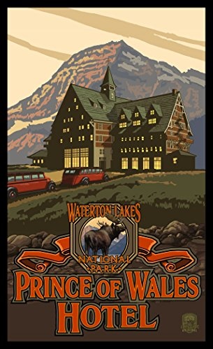 Northwest Art Mall PAL-4915 Waterton Lakes National Park Canada Prince of Wales Hotel Print by Artist Paul A. Lanquist, 11