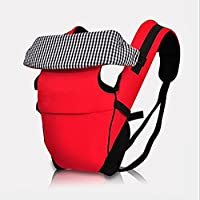 BabyGo Premium Classic Plaid Baby Carrier (Red)