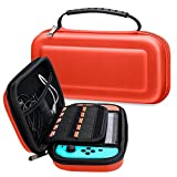 Cheap Nintendo Switch Carrying Case, Pasonomi Tough Pouch EVA Bag with Zipper Protective Travel Case for Nintendo Switch 2017 (Red)