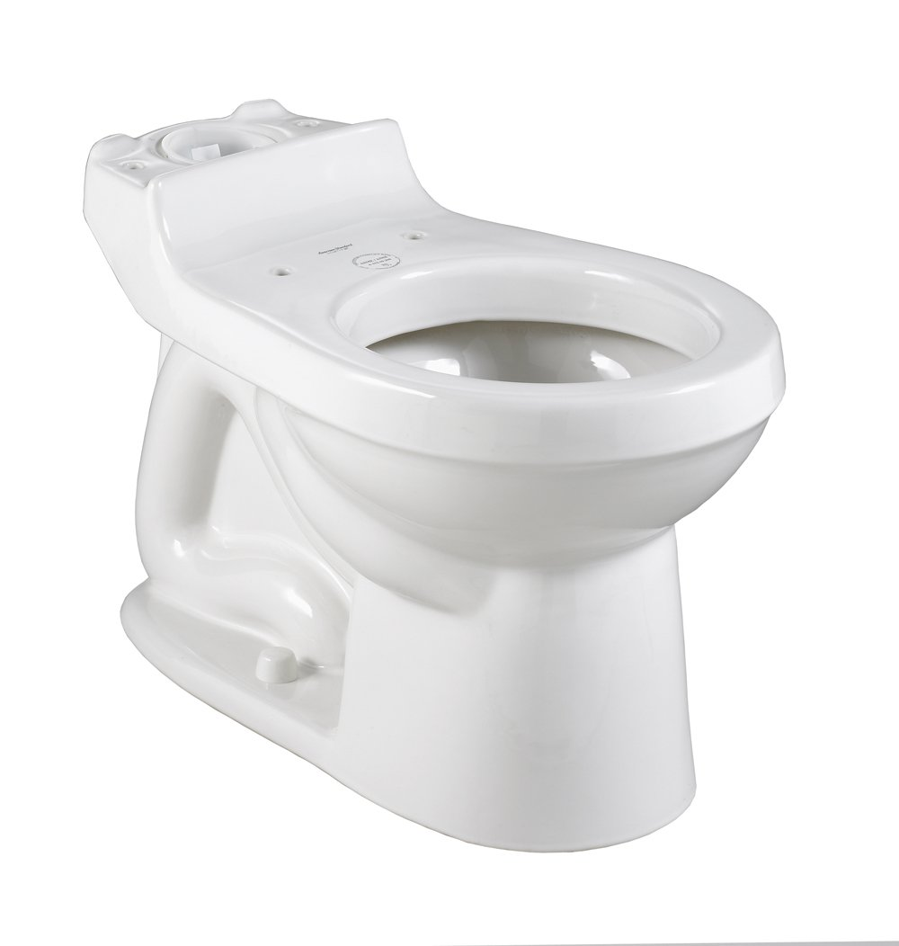 American Standard 3110.016.020 Champion Round Front Toilet Bowl with Bolt Caps, White (Bowl Only)