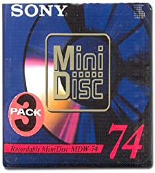 Sony Recordable Mini Disc - 74 Minutes (3 Pack)