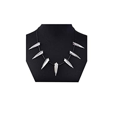 a6b383ecdde2f MINGKUO Black Panther Pendant Necklace for Men-Wakanda King T'Challa Pendant