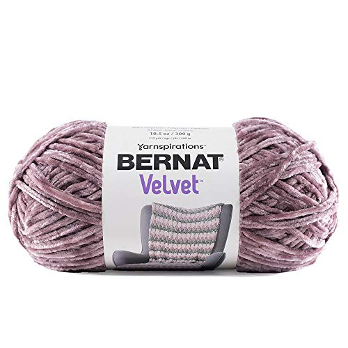 Craft County 315 Yards of Medium Velvet Yarn - 100% Machine Wash and Dryable Polyester (Shadow Purple)