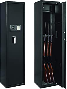 IOKUKI Rifle Safe Gun Safes,Large Electronic Rifle Safe for Home,Quick Access 5-Gun Rifle Safe Large Firearm,Gun Shotgun Security Cabinets with Pistol Handgun Lock Box
