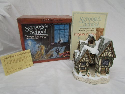 David Winter- Scrooge's School- Special For Christmas 1992 Retired