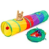 PanDaDa Cat Collapsible Extendible Stable Tunnel with Two Hole and Small Bal Pets for Small Medium & Large Cats Dogs Toy