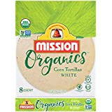 Mission Foods Organics White Corn Tortillas Kosher Certified by CRC Non-GMO Project Certified Organic; Certified Gluten Free