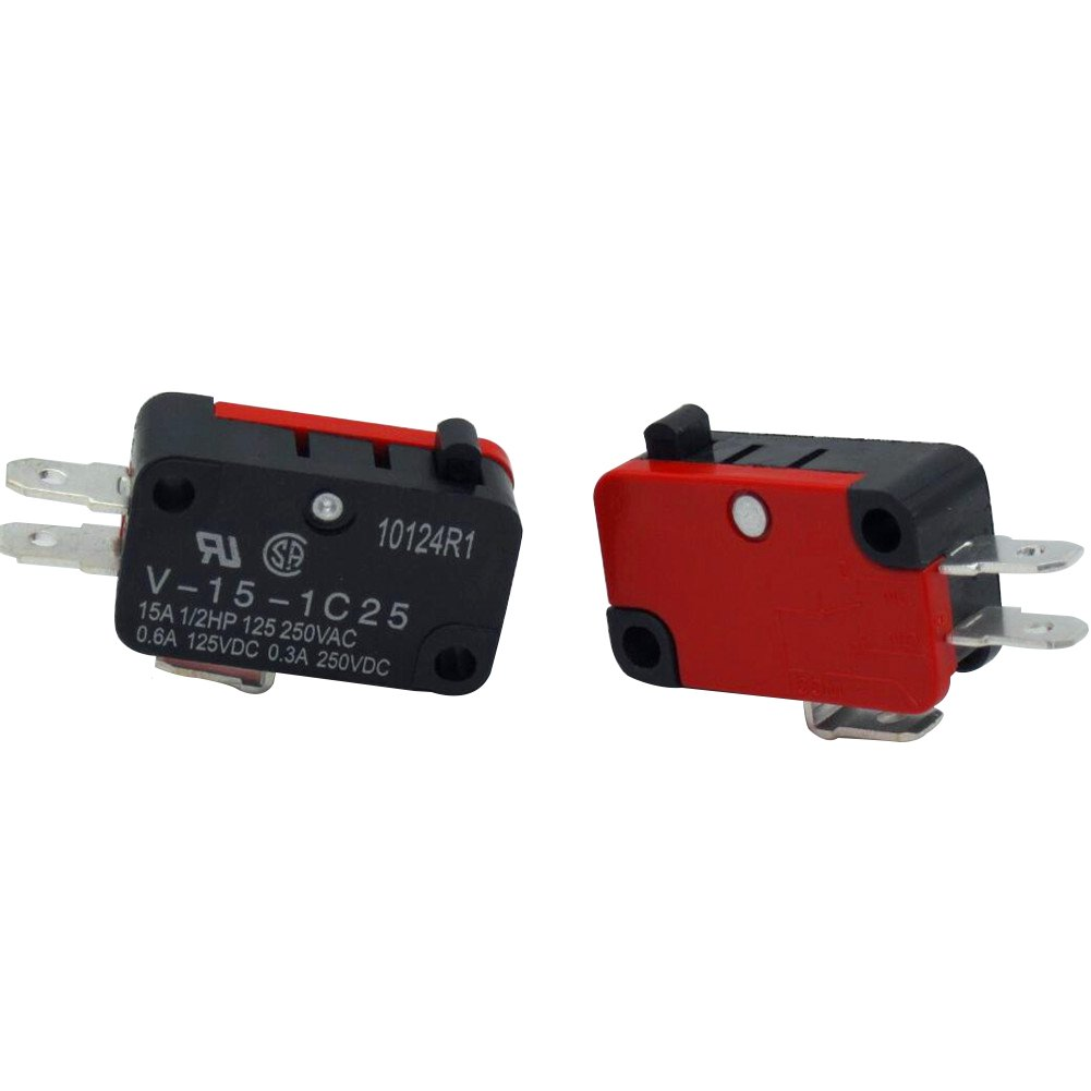 Taiss 10 Pcs/Lot 125V/250V 16A Microwave Oven Door Arcade Cherry Push Button SPDT 1 NO 1 NC Micro Switch V-15-1C25 Limit Switch arduino (Warranty 1 Years)