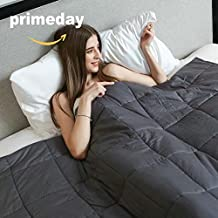 Weighted Idea Cool Weighted Blanket (48''x78'', 15 lbs for 130-170lbs individuals, Grey) for Youths or Kids - Occupational Therapy for Anxiety, Insomnia, Agitation, Autism, ADHD|Full/Queen Size