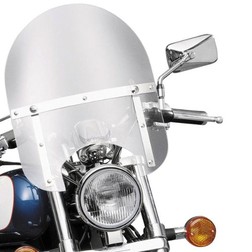 Slip Streamer HD-0 Mini Police Windshield for 1968-2011 Honda Motorcycles - One Size