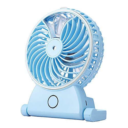 Huayang| Foldable Portable USB Mini Battery humidifier Fans / Mini Desk Fan   Blue