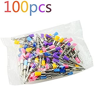funwill Dental Colorful Nylon Schale Polieren Düse Pinsel flach Typ 100