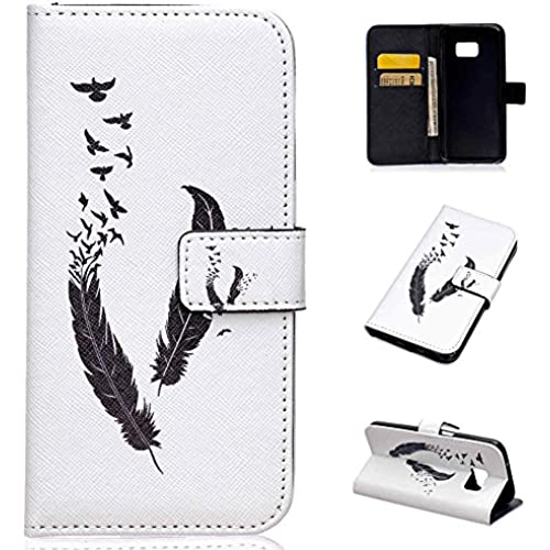 Galaxy S7 Case, S7 Case, LANDEE The unique design PU Leather Wallet Stand Flip Case Cover for Samsung Galaxy S7 (feather)(S7-P-0014) Sales