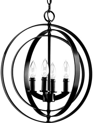 New Legend Lighting Modern Meridian 4-Light Pendant Chandelier