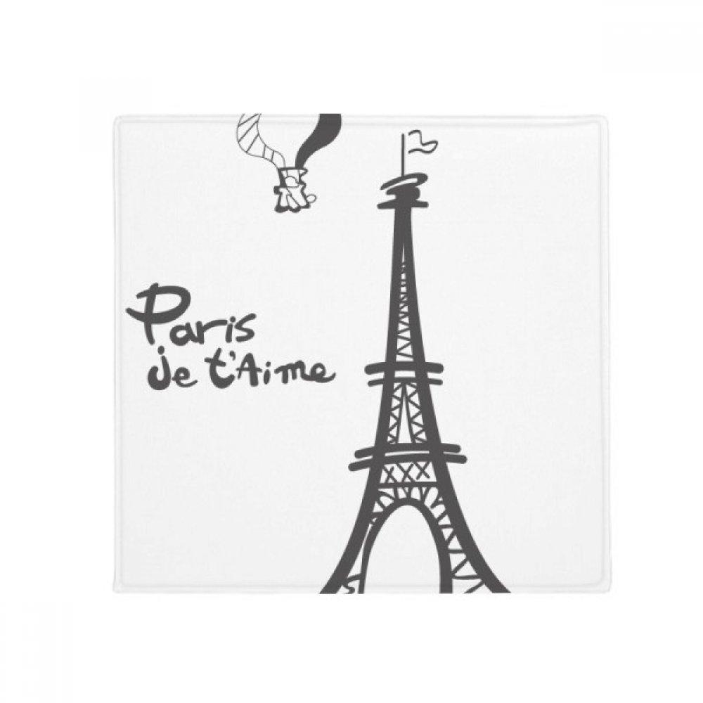 DIYthinker Line Drawing Eiffel Tower Silhouette Paris Anti-Slip Floor Pet Mat Square Home Kitchen Door 80Cm Gift