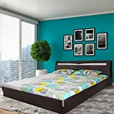 Royal Oak Barcelona King Size Bed with Storage (Black and White)