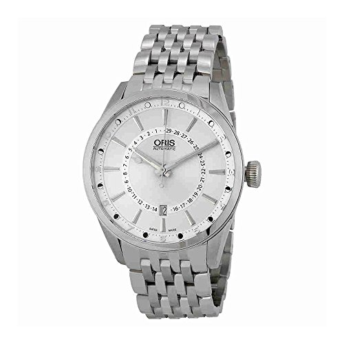 Oris Artix Pointer Moon Date Automatic Stainless Steel Mens Watch Silver Dial 761-7691-4051-MB