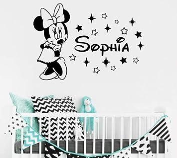CMCC Minnie Mouse Wandtattoo Mädchen benutzerdefinierte jeder Name ...