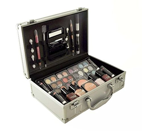 Cameo Carry All Trunk Train Case with Makeup and Reusable Aluminum Case