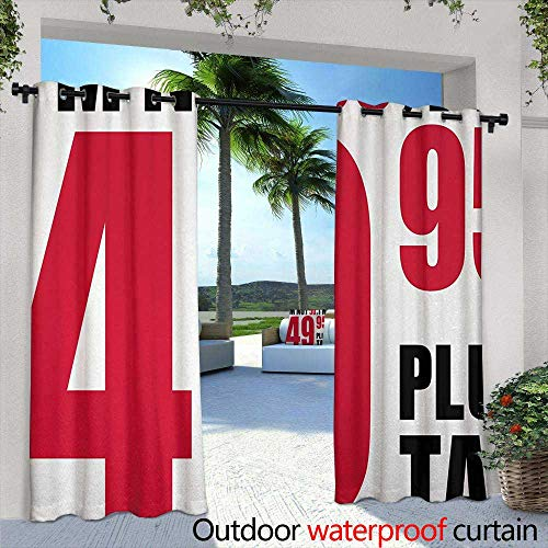 Tim1Beve Outdoor Curtains 50th Birthday Hilarious Catchphrase Old