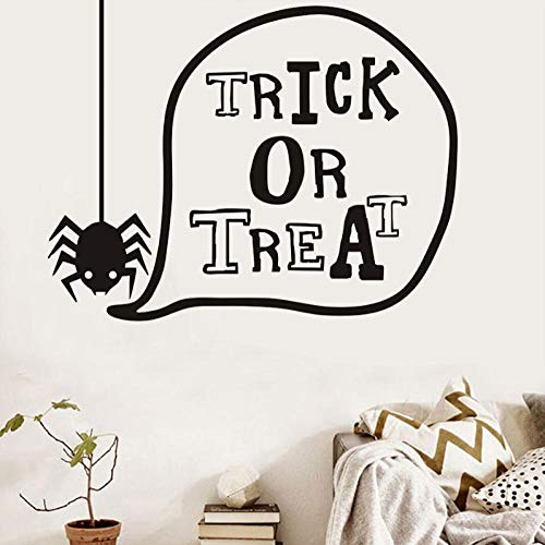 weilaike Trick Or Treat Cute Spider Halloween Wall Stickers for Kids Room Wall Halloween Home Decor 73 X 58 -