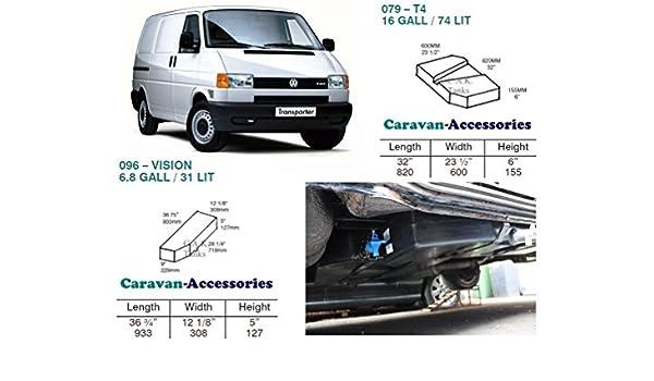 Fresh & residuos agua tanque Kit para Volkswagen T4 conversiones de furgoneta Volkswagen: Amazon.es: Coche y moto
