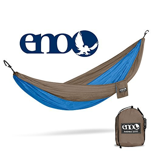 ENO - Eagles Nest Outfitters DoubleNest Hammock, Portable Hammock for Two, Teal/Khaki