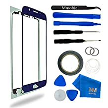 MMOBIEL Front Glass for Samsung Galaxy S6 G920 Series (Blue) Display Touchscreen incl Tool Kit / Pre-cut Sticker / Tweezers / Roll of 2mm Adhesive Tape / Suction Cup / Metal Wire / cleaning cloth