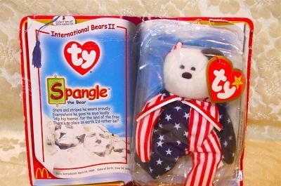 McDonald's ty Spangle the Bear,Stars&Stripes,1999,NIP by McDonald's