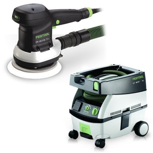 Festool PM571794 6 in. Random Orbital Finish Sander with CT MINI 2.6 Gallon Mobile Dust (Mini Dust Extractor Package)