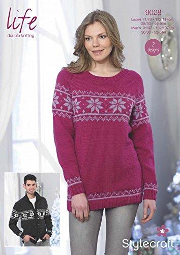 Stylecraft Ladies Mens Christmas Sweater Jacket Life Knitting