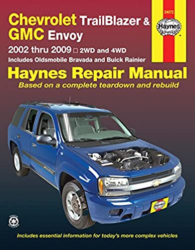 chevrolet trailblazer and gmc envoy 2002 2009 repair manual haynes rh amazon com 2002 gmc envoy manual pdf 2002 gmc envoy manual pdf