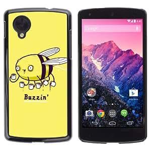 YOYOSHOP [Funny Coffee Buzzin Bee Illustration] LG Google Nexus 5 Case