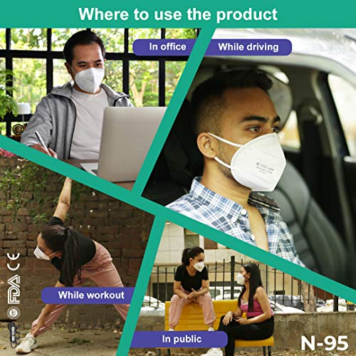 CARE-VIEW-Non-Woven-Fabric-Reuseable-N95-Mask-White-Without-Valve-Pack-of-10-for-Unisex