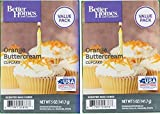 Better Homes and Gardens Orange Buttercream Cupcake Wax Cubes 5oz - 2-Pack