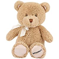 GUND Amazon 定制款 我的第一只泰迪熊毛绒玩具-高10寸(25cm)浅棕色