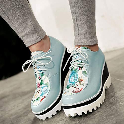 Bleu Femme À Decostain Chaussures Ville p Pour De 20683de Lacets xF6TwqS