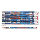 Moon Products Dozen Decorated HB 2 Wood Pencil, Super Reader, Blue Barrel (MPD2112B) by Moon