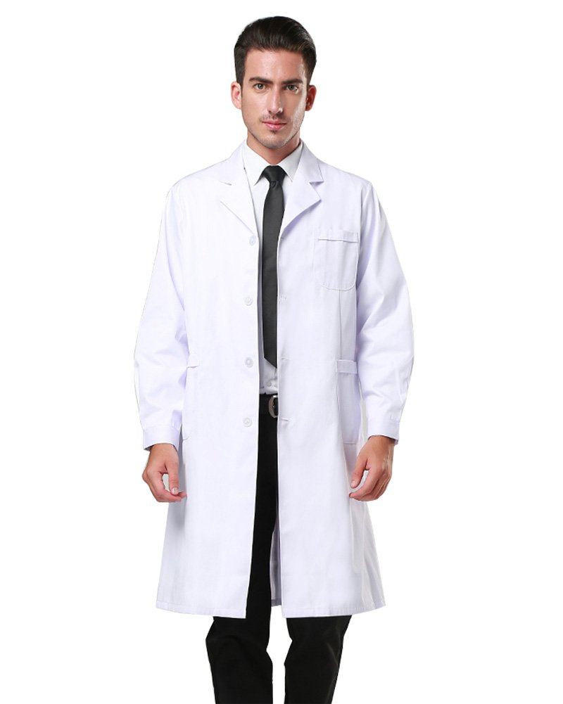 Nachvorn Professional Unisex Lab Coat Workwear Scrubs Uniform, Men XXXXL by Nachvorn (Image #1)