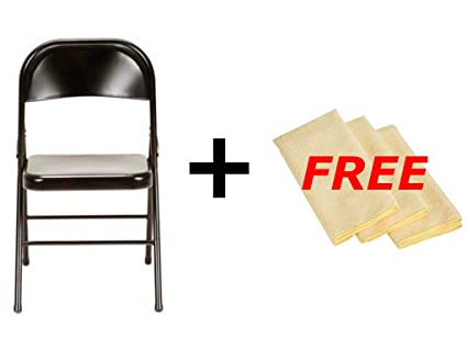 Tremendous Mainstays Steel Chair Set Of 4 Multiple Colors Black Free Cleaning Cloth Lamtechconsult Wood Chair Design Ideas Lamtechconsultcom
