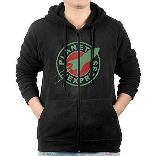 Futurama Planet Express Emblem Logo Zipper Hoodies For Men M - Logo Von Zipper